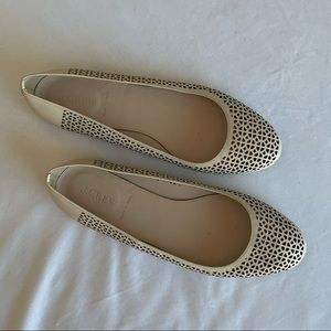 J Crew Nora Perforated Ballet Flats